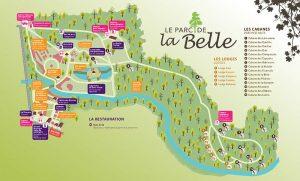 plan interactif du parc de la belle - hébergement insolite en france - jardin insolite